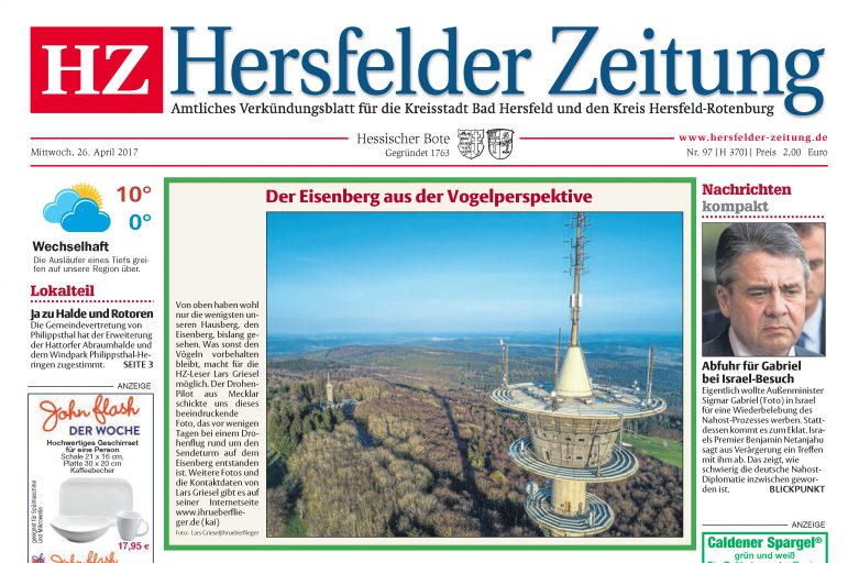 Hersfelder Zeitung – Sendeturm am Eisenberg 26.04.2017