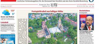 Hersfelder Zeitung – Festspieleröffnung am 23.06.2017