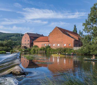 Die Mühle und das Wehr in Mecklar